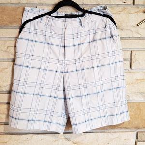 Plaid Shorts  - White/Blue